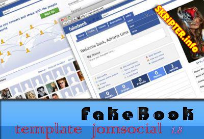 Шаблоны Fakebook - Facebook + Вконтакте