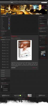 Черный универсальный шаблон DLE - ER-Chrome v2