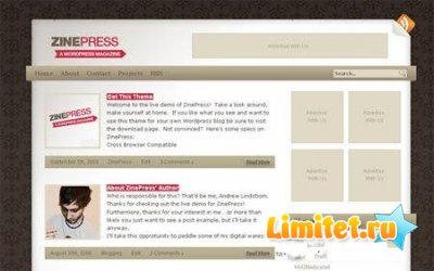 Шаблон для WordPress Zinepress