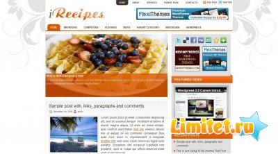 2010 (iRecipes) - WordPress theme
