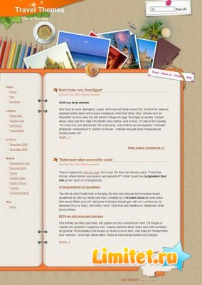 Шаблон wordpress на тему путешествий travelling-logbook