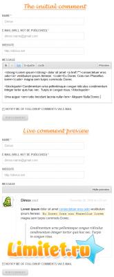 "Плагин для WordPress ""Предпросмотр комментария"" на jQuery"