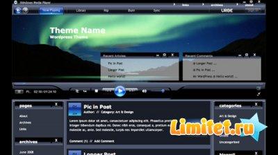Windows Media Player Free Wordpress Template