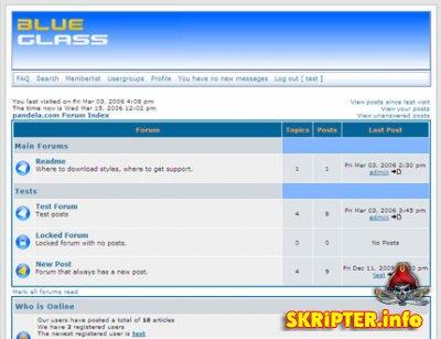 blueglass-стиль для PHPBB