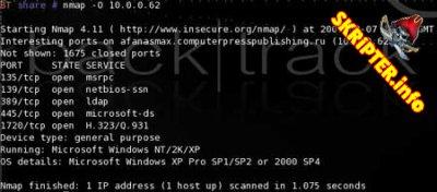 Сетевой сканер Nmap