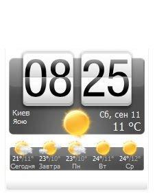 Прогноз погоды в стиле HTC