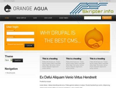 Шаблон Drupal Orange Aqua