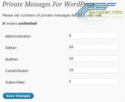 Private Messages For WordPress