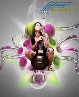 Урок Photoshop - Страсть к музыке