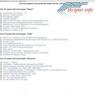 Модуль Ежедневная рассылка новостей на почту 1.0 для DLE