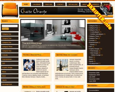 Chaise Orange для Wordpress