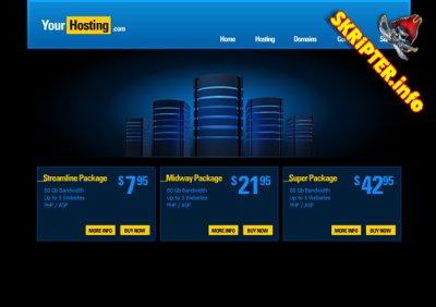 Шаблон flash сайта - Hoster