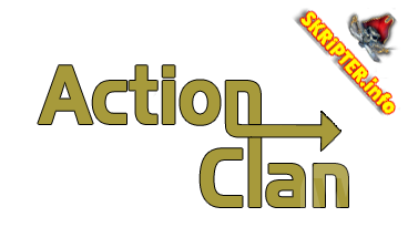 PSD макет Action Clan
