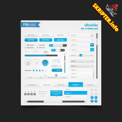 WhiteBlue set - Web Design