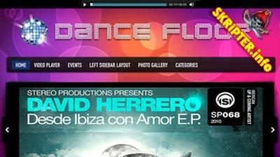 Dance Floor - шаблон Wordpress музыкального клуба от GorillaThemes