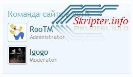 Команда сайта в сети v.1.0