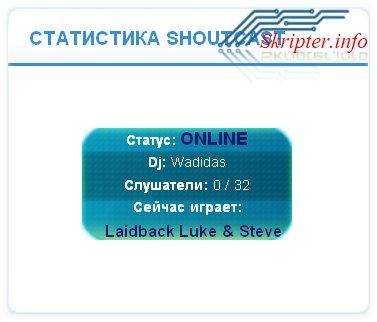 Статистика Shoutcast радио