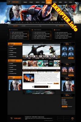 """PSD макет сайта """"Darkgames"""""""