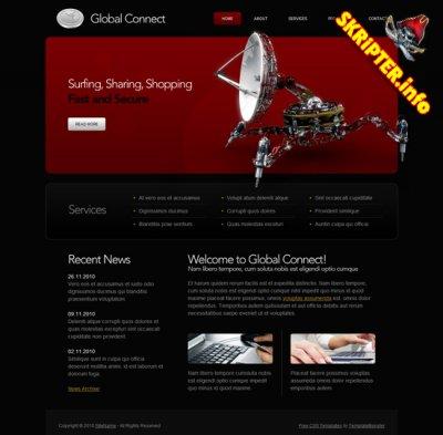 HTML шаблон сайта - Global connect