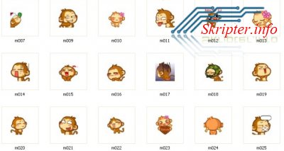 Smiles Monkey Emoticons