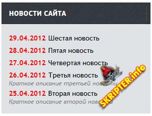"""Модуль """"Новости сайта"""" v.1.2"""