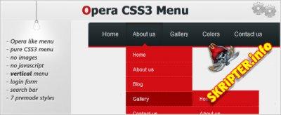 Opera CSS3 Menu
