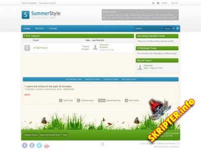 Скин SummerStyle v1.0.4 для IPB 3.3.x