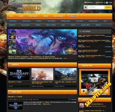Шаблон Game World для игрового сайта под DLE 9.6