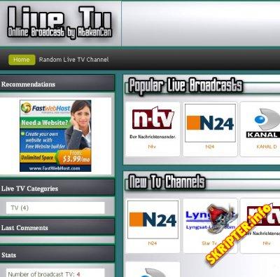 Live Tv Script 1.7.2012