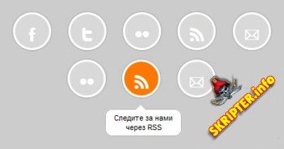 Социальное меню на HTML5 and CSS3