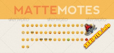 Matte Motes Emoticon Set