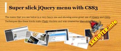 jSlickmenu - CSS3 меню