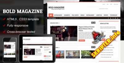 Шаблон Bold Magazine