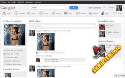 Шаблон Google Plus