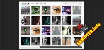 Интересный шаблон сайта для фотографа или художника с портфолио работ