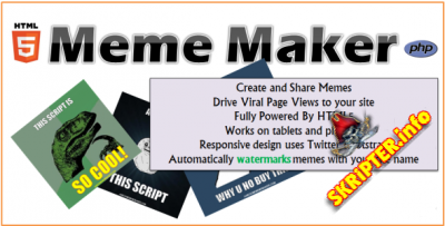 HTML5 Meme Maker v1.2 – CodeCanyon