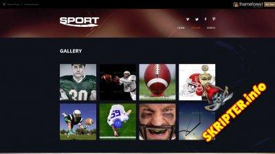 [HTML] Шаблон Sport Landing Page