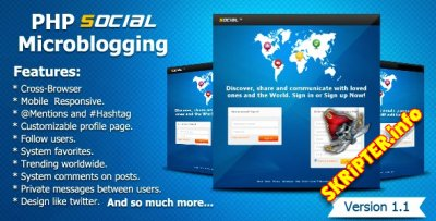 PHP Social Microblogging 1.1