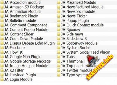 Все расширения от студии JoomlArt