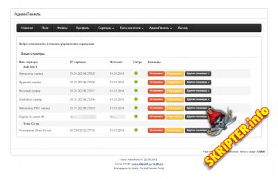 Game AP Web-панель управления игровыми серверами