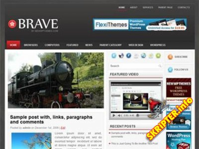 Brave - темная тема для wordpress