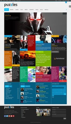 Puzzles v3.7.1 - новостной / журнальный WooCommerce WordPress шаблон