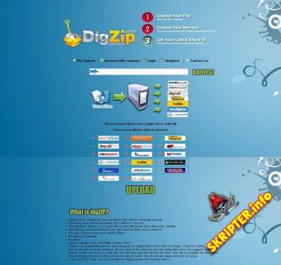 DigZip Clone Script 2013
