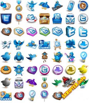 Twitter иконки