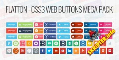 Flatton - CSS3 Web Buttons Mega Pack