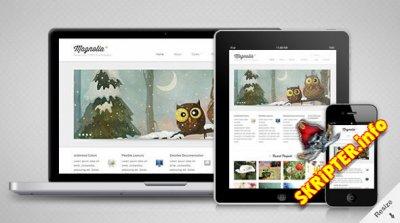 Magnolia — адаптивный HTML5 шаблон от MojoThemes