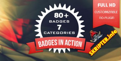 80+ Badges : Corporate/Festival/Neon/Organic