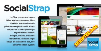 SocialStrap 1.5 + 40 addons