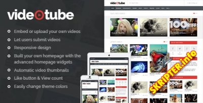 VideoTube v2.2.8 - видео шаблон для WordPress