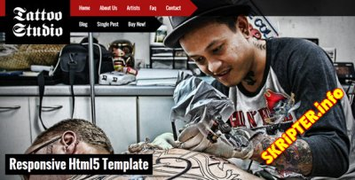 HTML Шаблон Tattoo Studio 1.2
